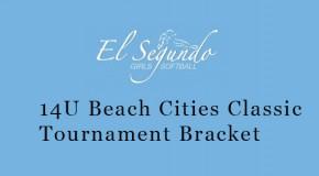14U Beach Cities Classic Tournament Bracket Posted