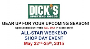 Dick's Memorial Day Weekend Shop Event 5/22 – 5/25!